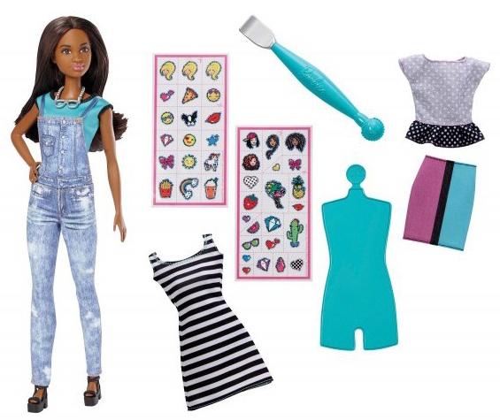 Mattel Barbie D.I.Y Emoji Style Puppe türkis