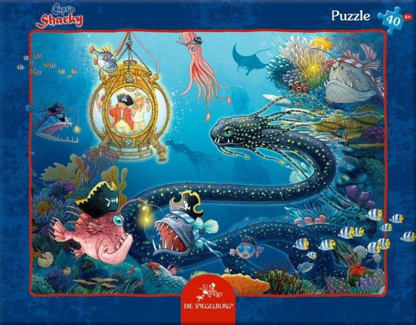 Captn Sharky Rahmenpuzzle Tiefsee-Abenteuer 40 Teile