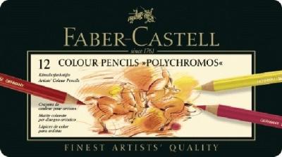 Faber Castell Farbstifte Polychromos 12er, Metalletui