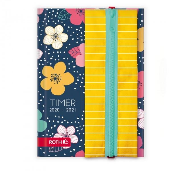 Roth Schülerkalender A5 2020/2021 Flowers