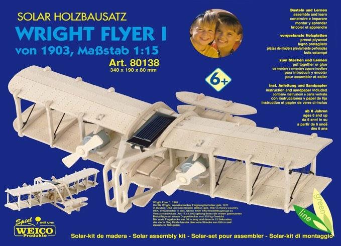 Solar-Holzbausatz Wright Flyer I, Maßstab 1:15