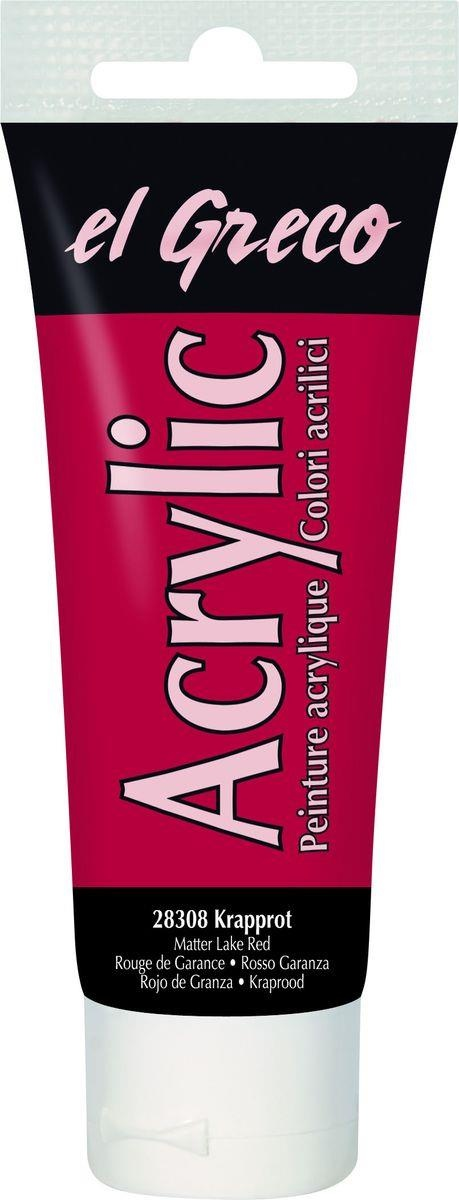 El greco Acrylic Acrylfarbe Krapprot 75 ml