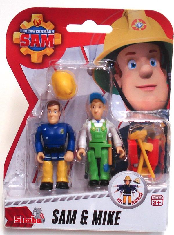 Feuerwehrmann Sam Figuren Sam & Mike