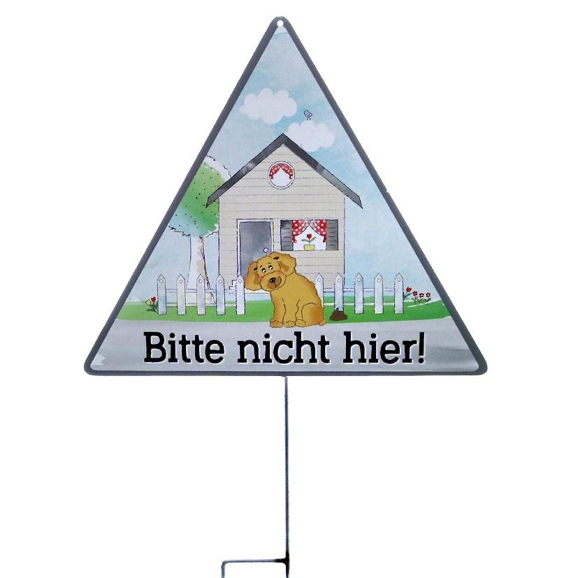Metallschild Hundehaufen - Bitte nicht hier