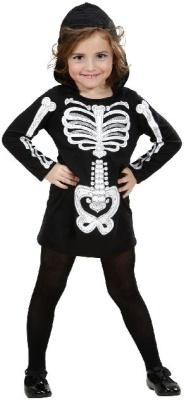 Kostüm Skelett Mädchen 110