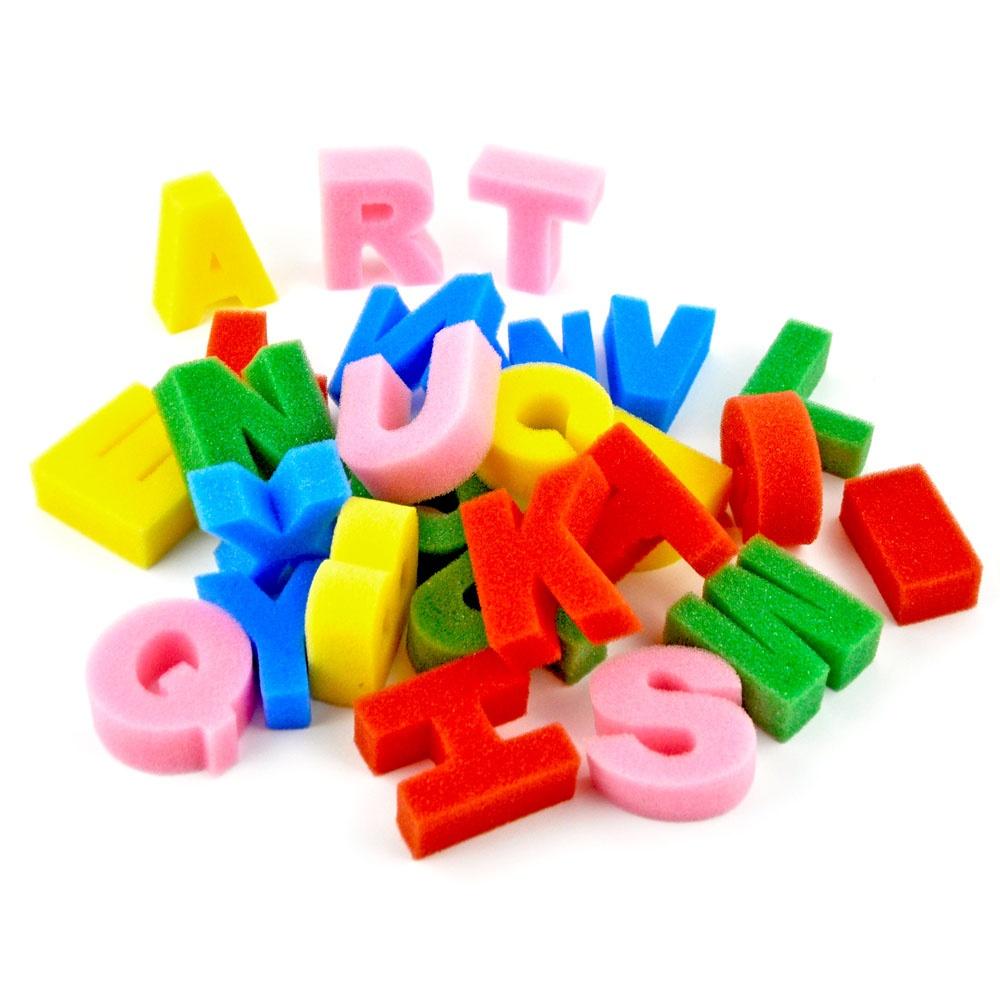 Buchstaben aus Schwamm