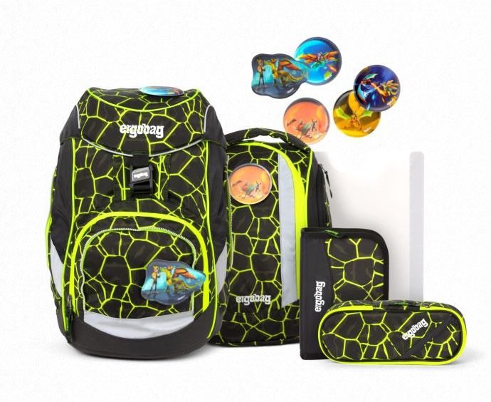 Ergobag Pack Schulrucksack-Set DrachenfliegBär