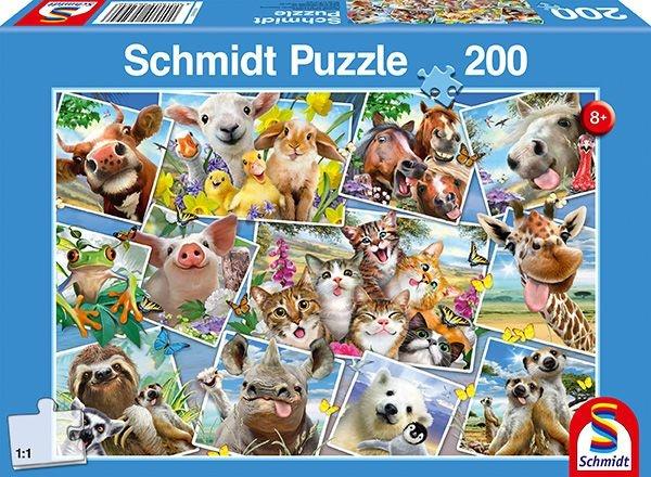 Schmidt Spiele Puzzle Tierische Selfies 200 Teile