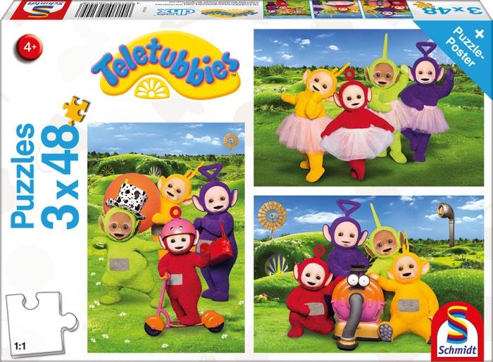 Schmidt Spiele Puzzle Teletubbie Zeit zum Spielen 3 x 48