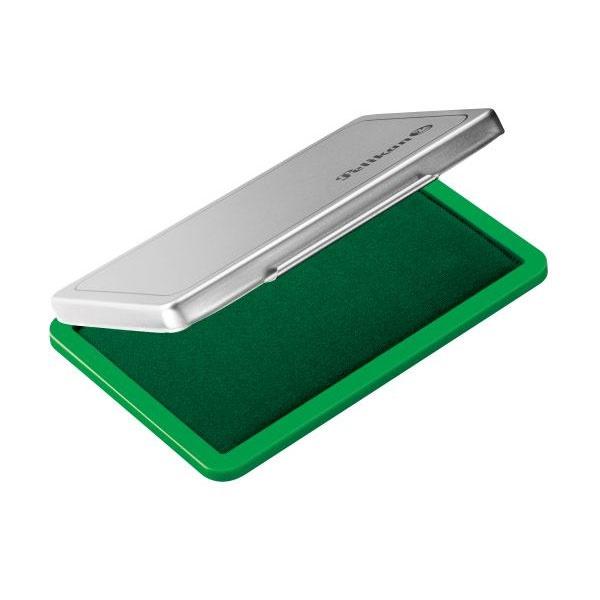 Stempelkissen 2 Pelikan, grün/Metallicgehäuse