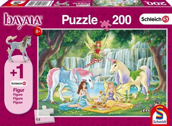 Schmidt Spiele Schleich Puzzle Picknick der Elfen 200 Teile