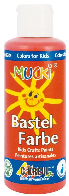 Kreul Mucki Bastelfarbe rot 80 ml