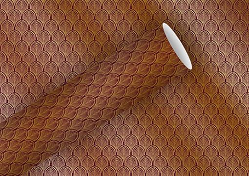 Geschenkpapier 1,5m x 70cm Art Déco rubin