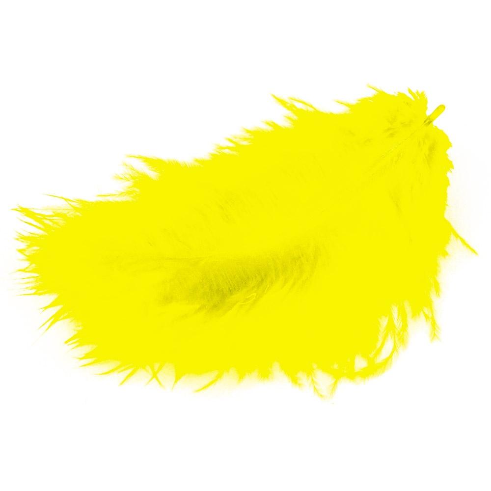 Marabufedern gelb 17 Stück Packung