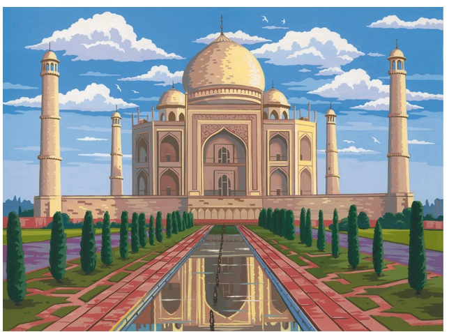Mammut Malen nach Zahlen Taj Mahal