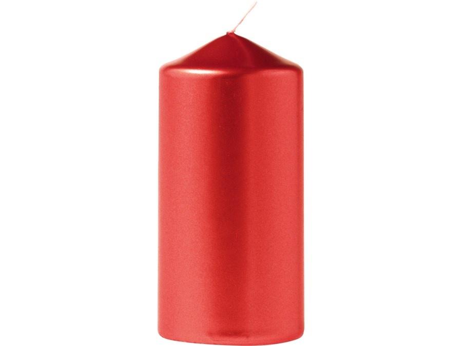Eika Stumpenkerze metallic rot 110/60 mm