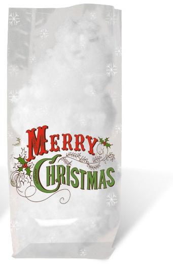 Geschenk-Bodenbeutel Merry Christmas 14,5 cm x 23,5 cm