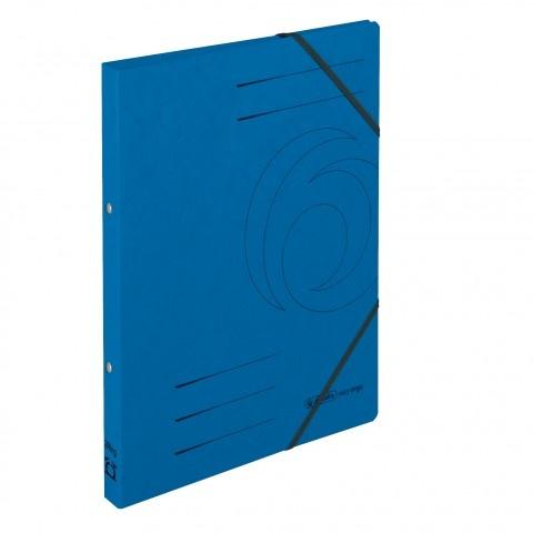 Ringhefter Colorspan-Karton A4 blau von Herlitz