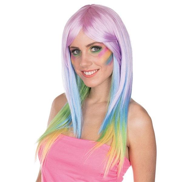 Kostüm-Zubehör Perücke Rainbow