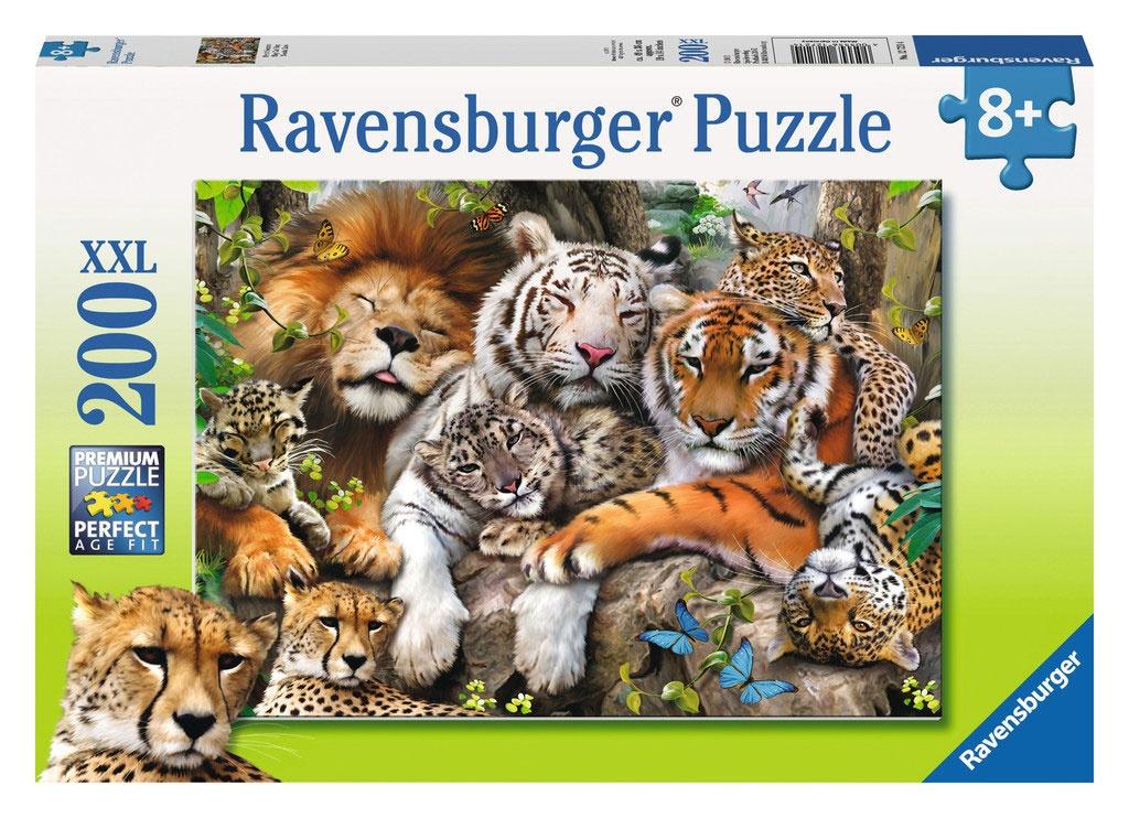Ravensburger Puzzle Schmusende Raubkatzen 200 Teile