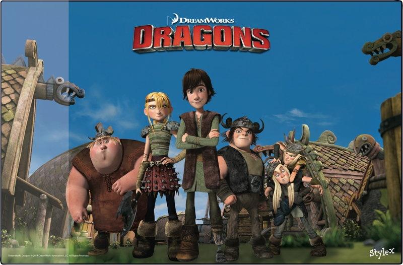 Dreamworks Dragons Schreibtischunterlage mit Hicks Astrid...