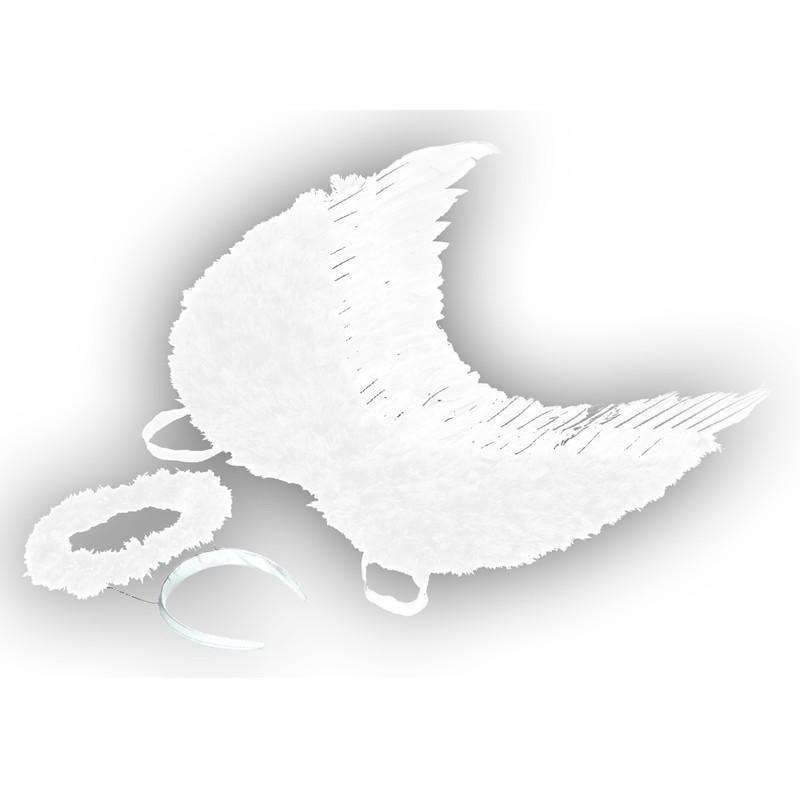 Kostüm Zubehör Engel-Set mit Flügel