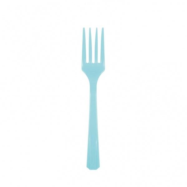 Partygabeln Kunststoff 10 Stück azurblau