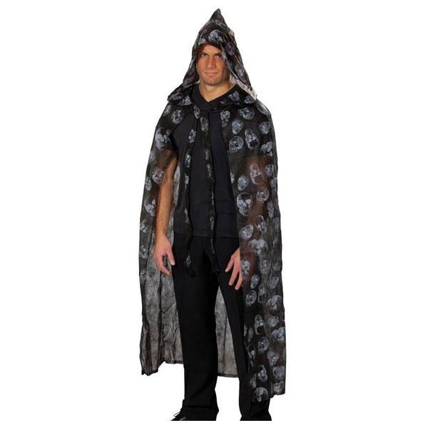 Kostüm-Zubehör Cape Totenköpfe