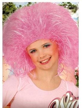 Kostüm-Zubehör Perücke Wuschelkopf pink
