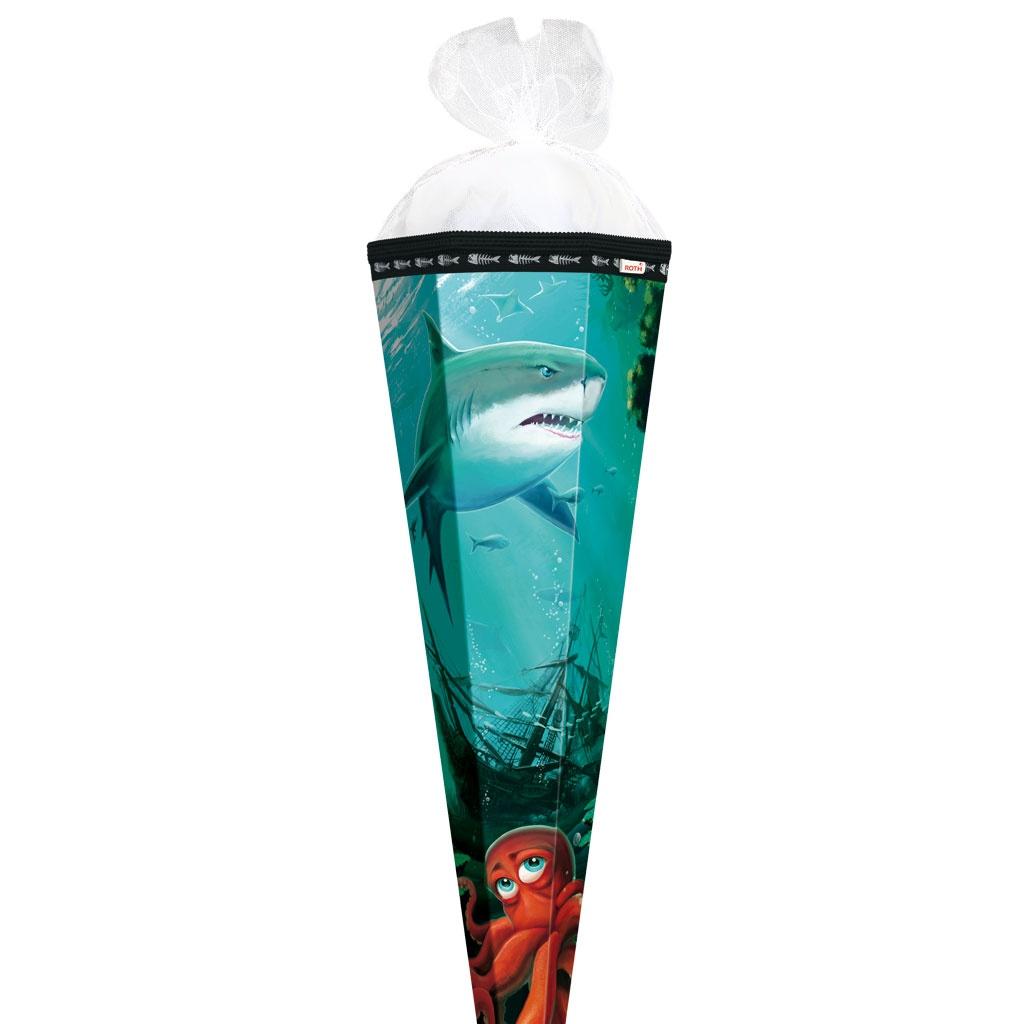 Roth Schultüte Hai mit Krake 85 cm 6-eckig