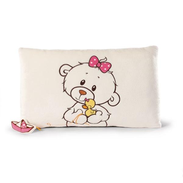 Nici Kissen  kleine Bären-Schwester mit Ente Bootch