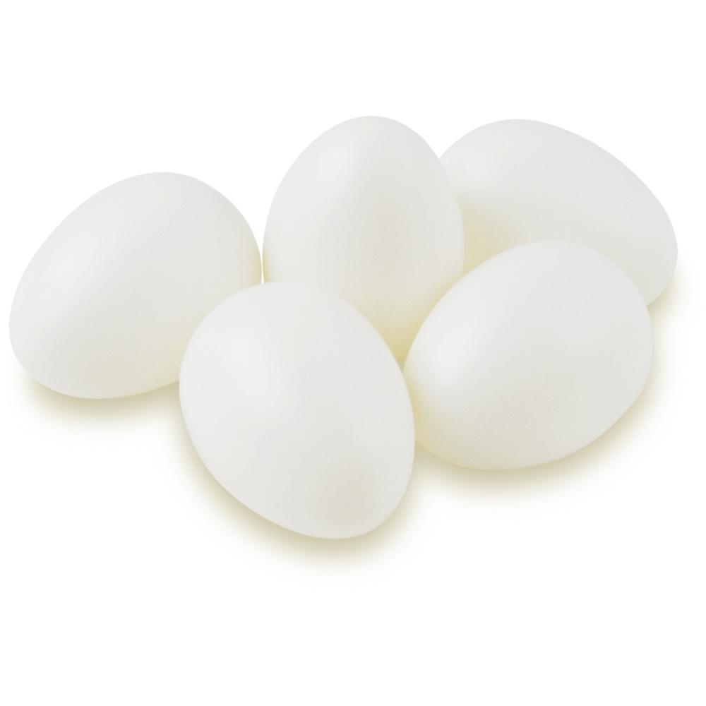 Kunststoff-Eier 12 Stück 29 x 29 mm mit Loch zum Aufhängen