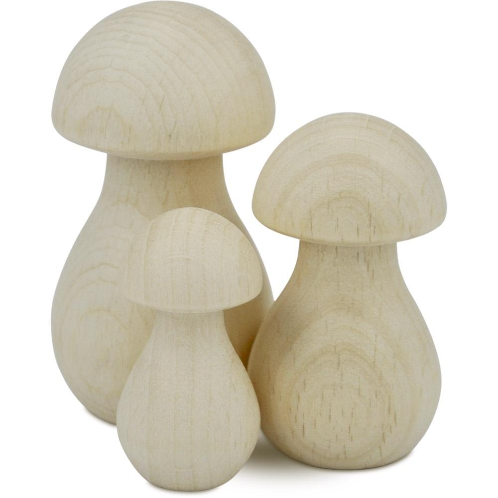 Holzpilze 10 Stück in verschiedenen Größen