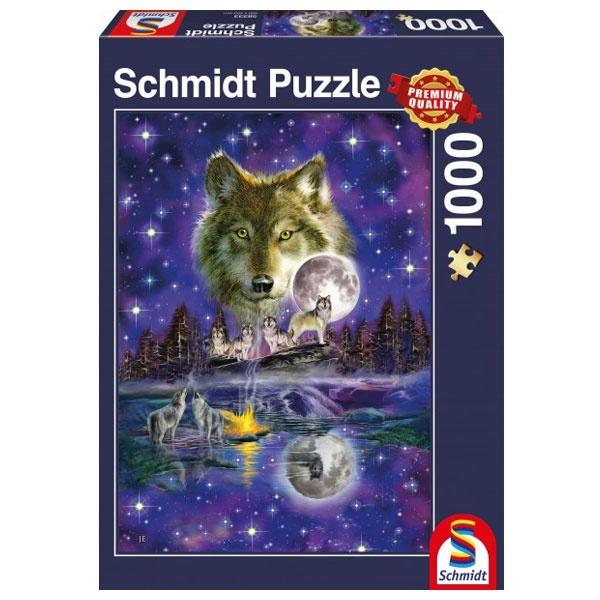 Puzzle Wolf im Mondlicht 1000 Teile