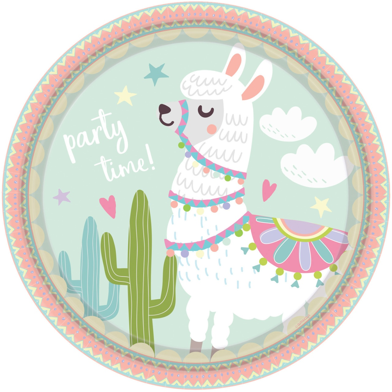 Partyteller Llama 8 Stück 23 cm Lama