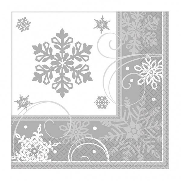 Servietten Sparkling Snowflakes