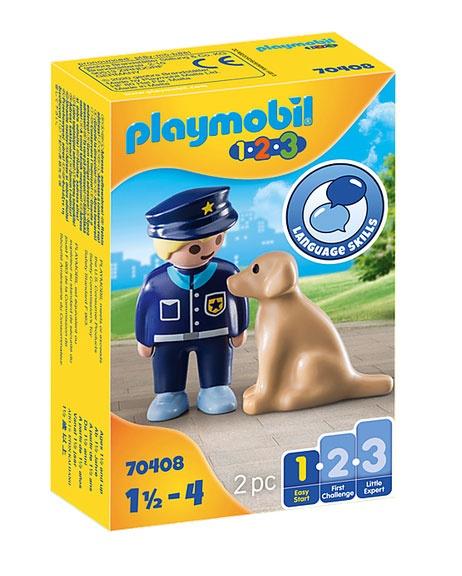 Playmobil 70408 1.2.3 Polizist mit Hund