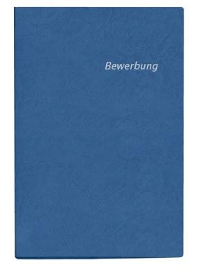 Bewerbungsmappe blau 2-tlg.