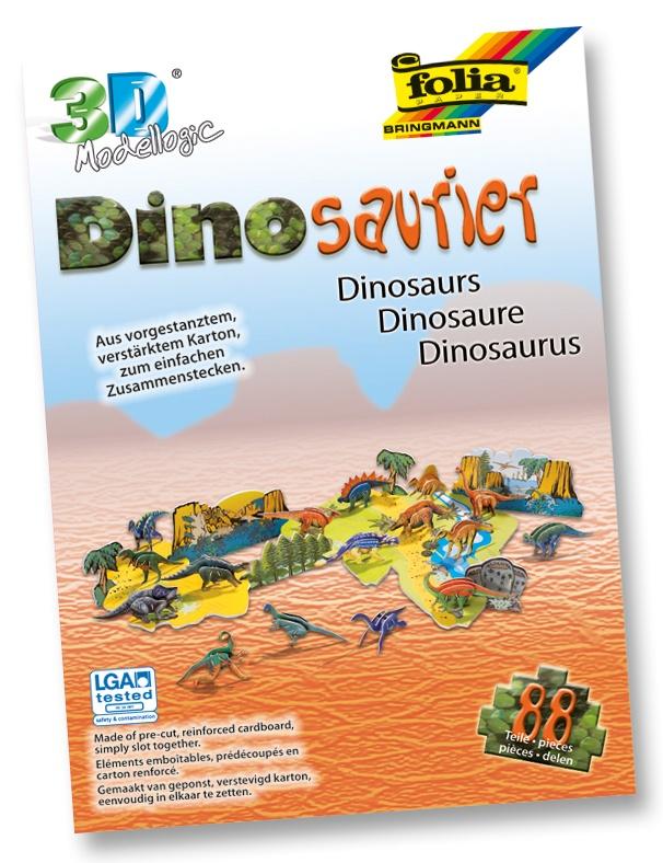 Bastelset 3D Modellogic Dinosaurier 88 Teile