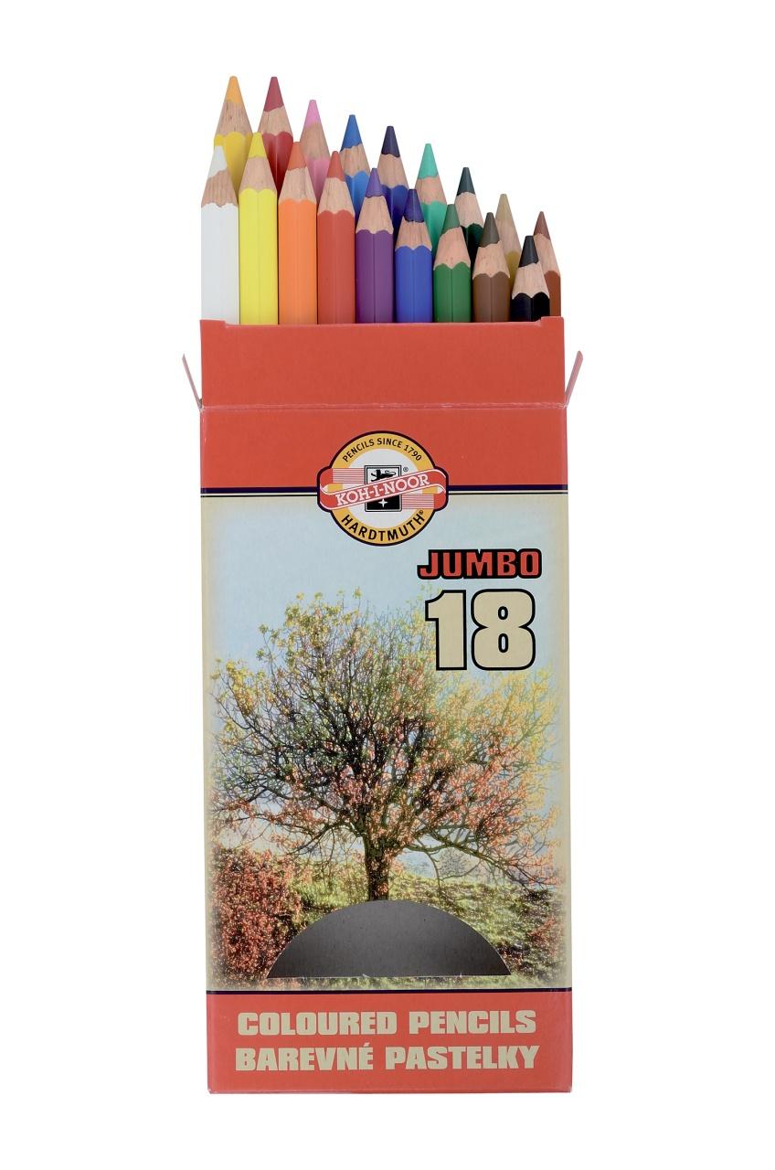KOH-I-NOOR  Farbstifte Jumbo 18 Stück