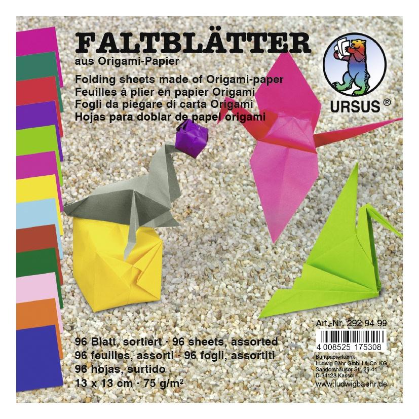 Origami Faltblätter 19 x 19 cm 96 Blatt