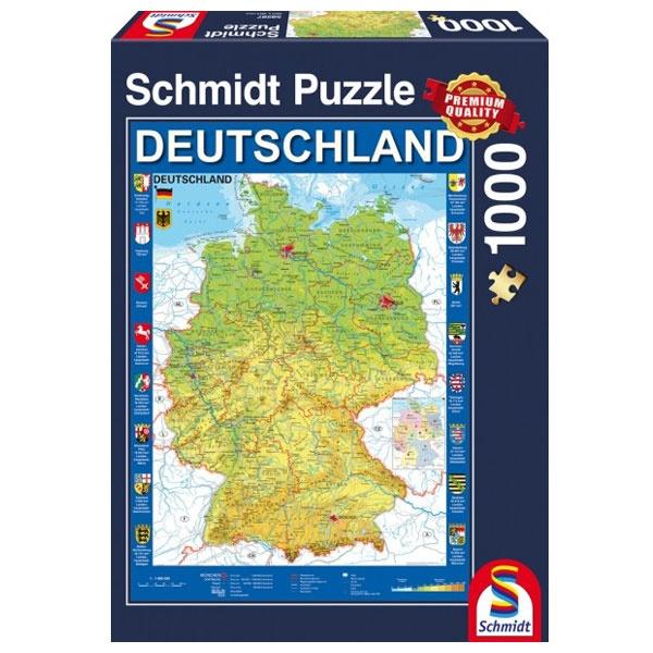 Puzzle Deutschlandkarte 1000 Teile