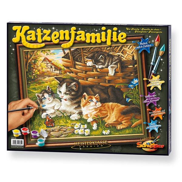 Schipper malen nach Zahlen Katzenfamilie  40 x 50 cm