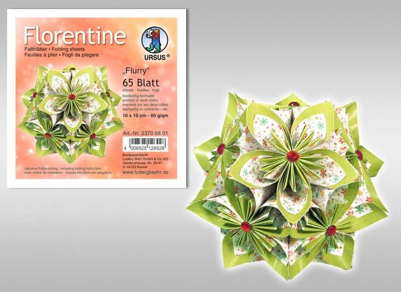 Faltblätter Florentine Flurry 15x15 cm
