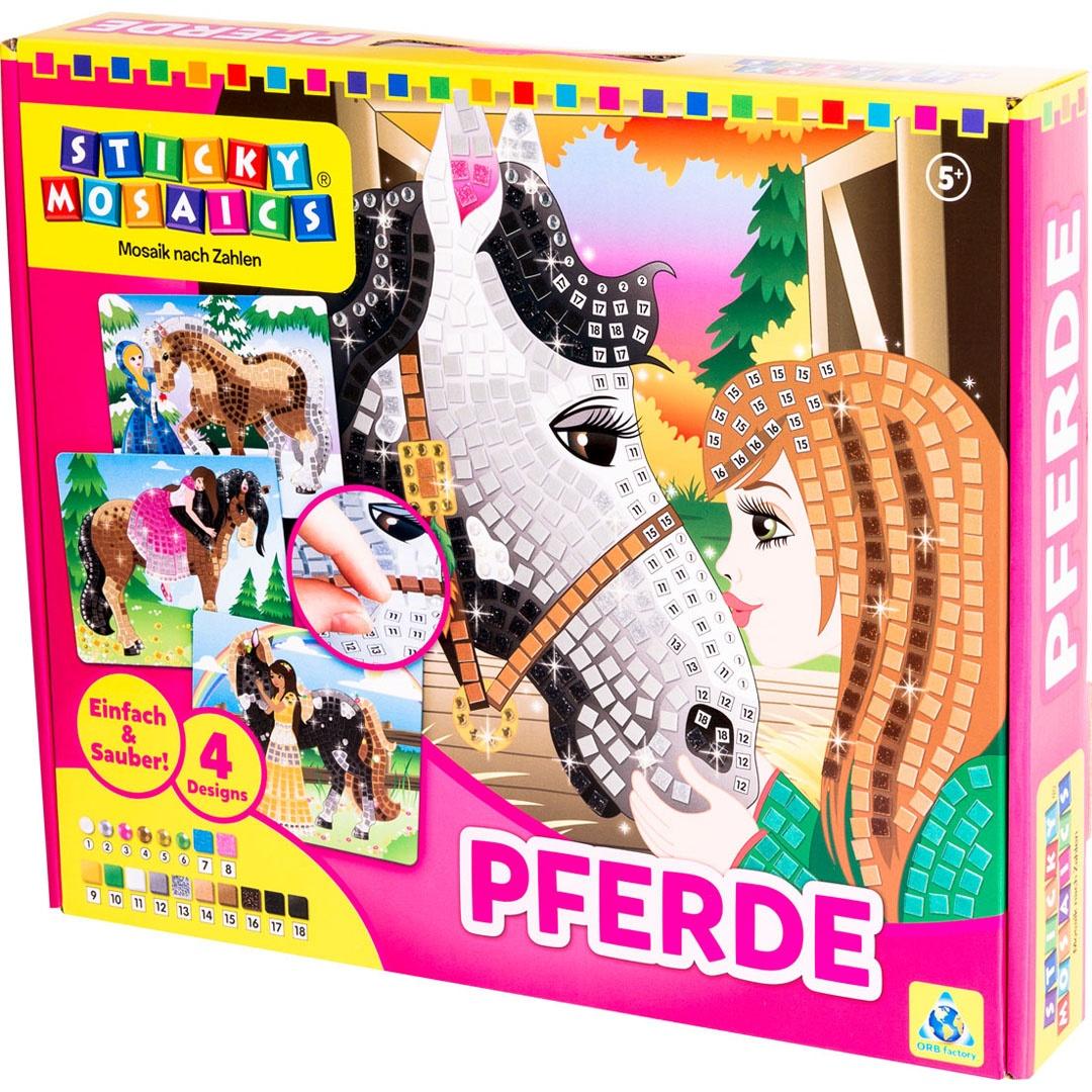 Bastelset Sticky Mosaics Pferde