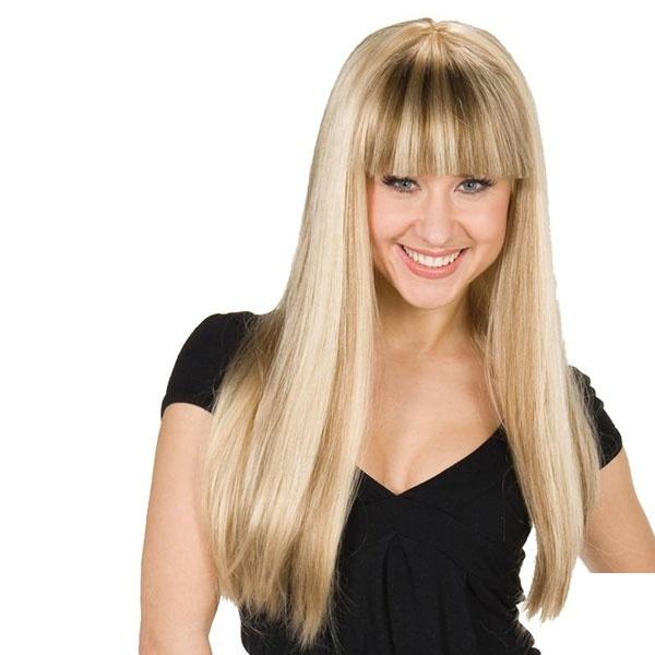 Kostüm-Zubehör Perücke Mandy blond lang