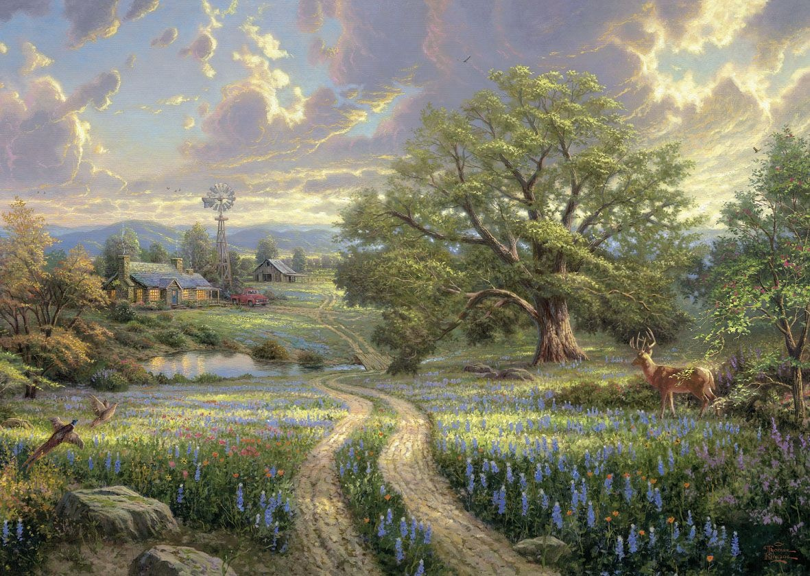 Schmidt Spiele Puzzle Thomas Kinkade Country Living 1000