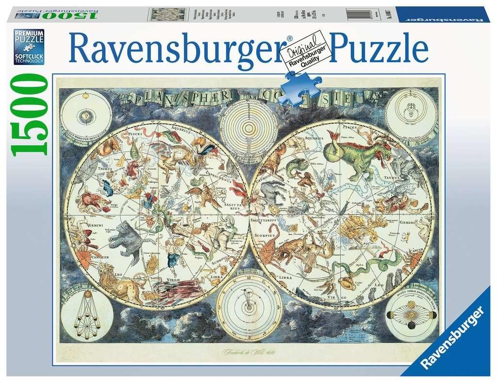 Ravensburger Puzzle Weltkarte mit fantastischen Tierwesen