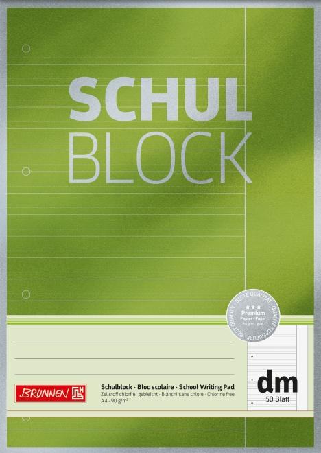 Brunnen Schulblock A4 Lineatur dm