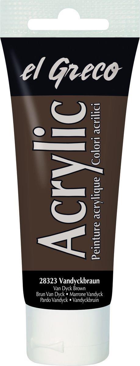 El greco Acrylic  Acrylfarbe Vandyckbraun 75ml